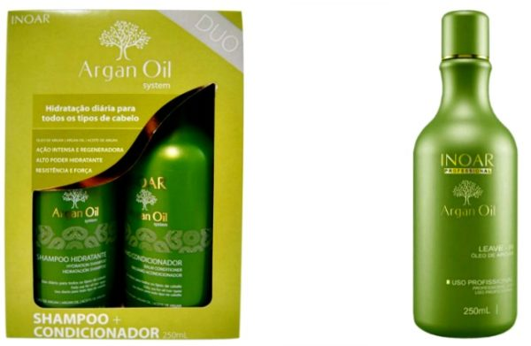 Inoar Argan oil shampoo, conditioner en leave-in 3 x 250 ML