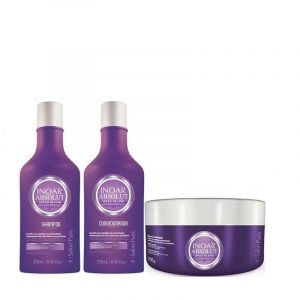 Inoar Speed Blonde zilver shampoo, conditioner en masker ( Kleine kit )