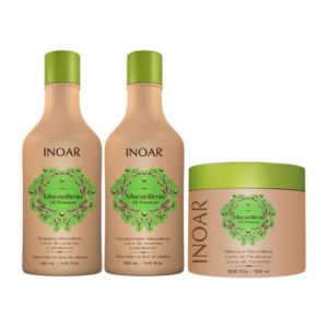 Inoar Macadamia Oil Premium shampoo, conditioner en mask