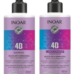 Inoar 4D shampoo en conditioner 2 x 400-ml